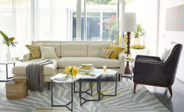 sunny mid century living room - Midcentury Living Room Ideas