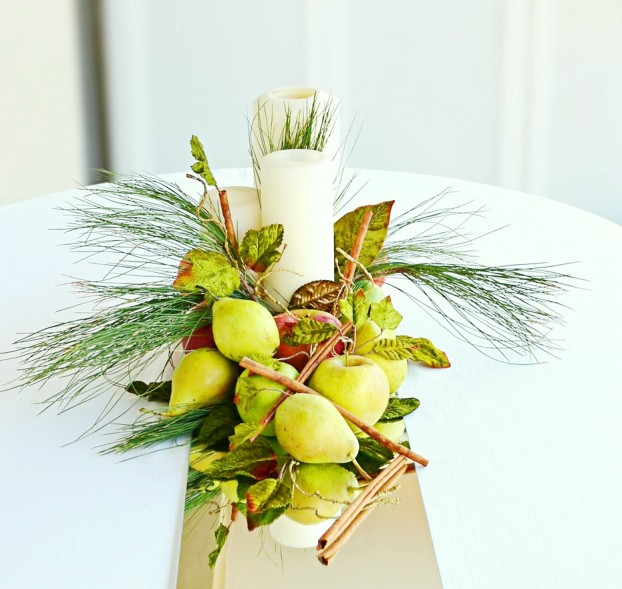 diy centerpiece by fresh fruits