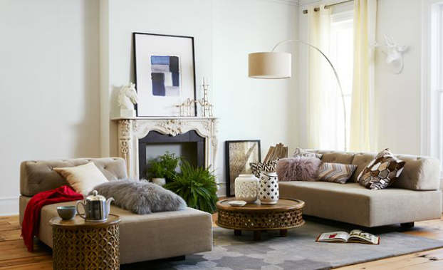 tufted textured living room