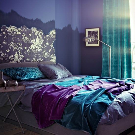 Turquoise Purple Bedroom Color Scheme Part 37
