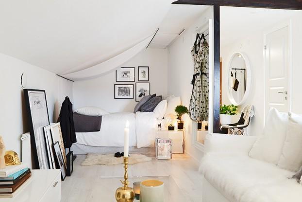 34 Square Meter Cozy Attic Studio Apartment
