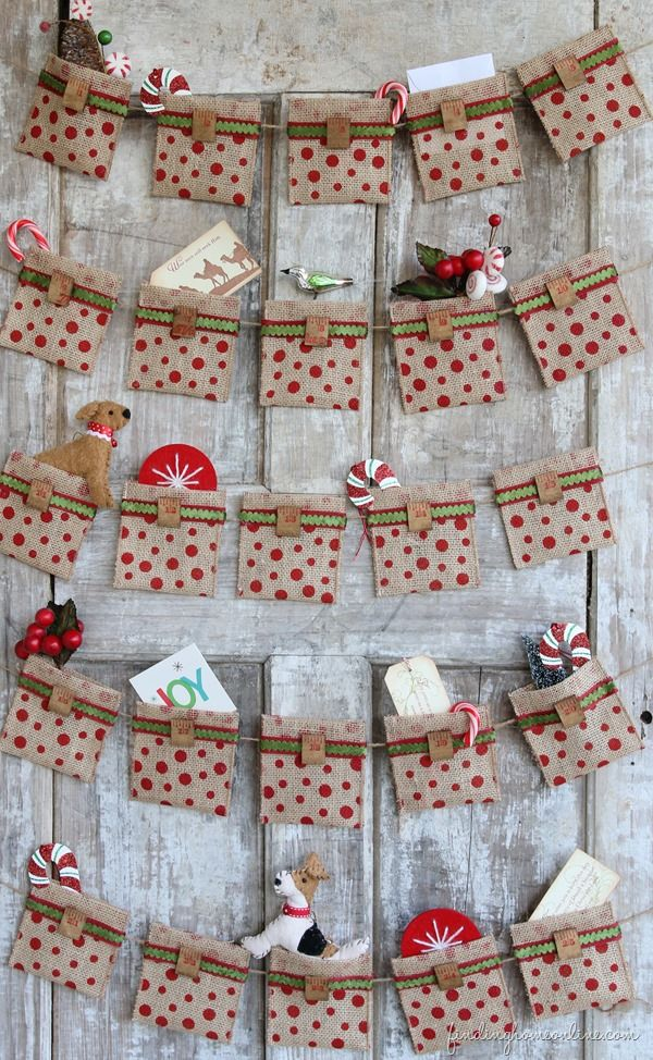 Sewn Advent Calendar Ideas : Christmas advent calendar ideas decoholic