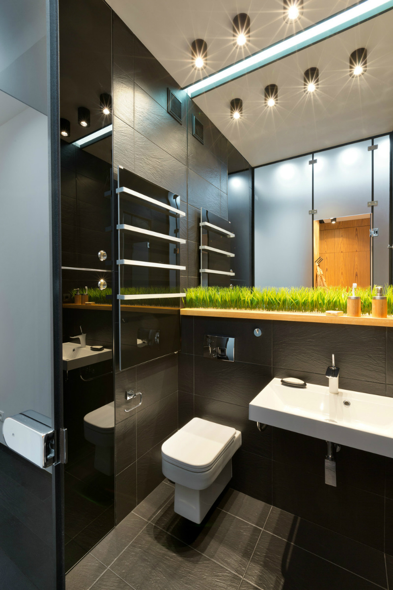 Contemporary 40 square meter 430 square feet apartment for Bathroom remodel 70 square feet