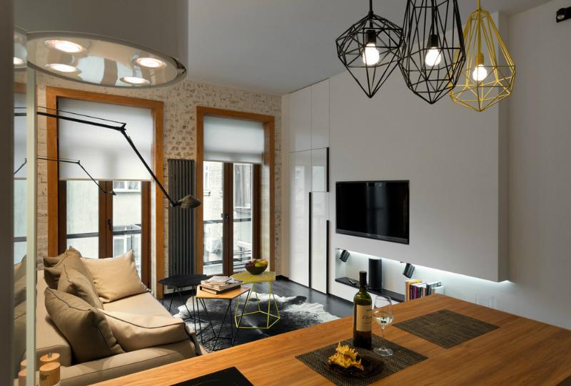 Contemporary 40 Square Meter 430 Square Feet Apartment Decoholic