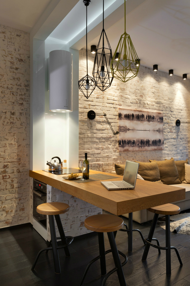 Contemporary 40 square meter 430 square feet apartment for 10x20 living room