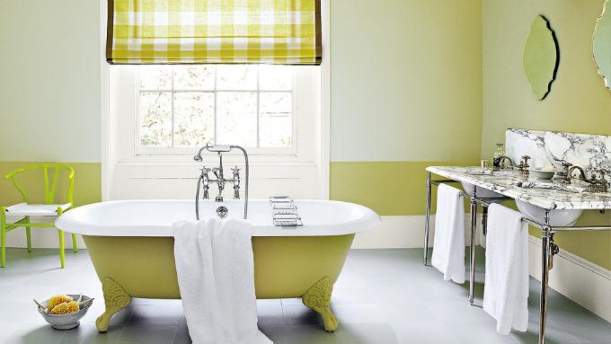 lime green bathtub
