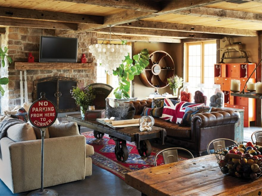 Rustic & Industrial Home With A Very Particular Design Aesthetic