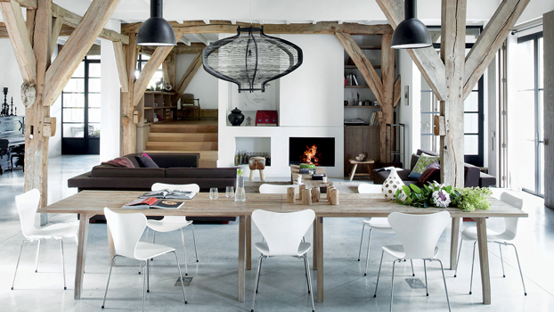Simplistic Modern Country Loft Design