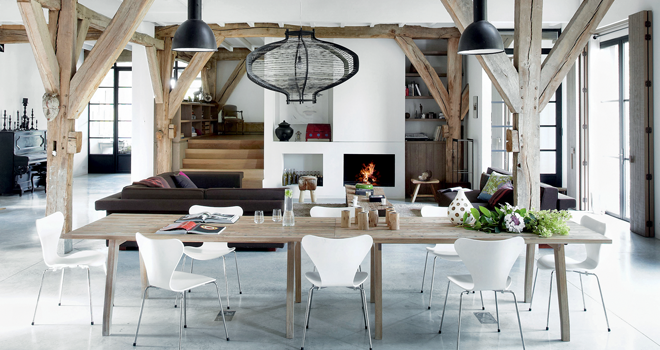 Modern Country Design simplistic modern country loft design - decoholic