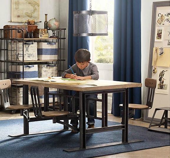 Vintage Industrial Yet Cute Kids' Playroom Ideas 13
