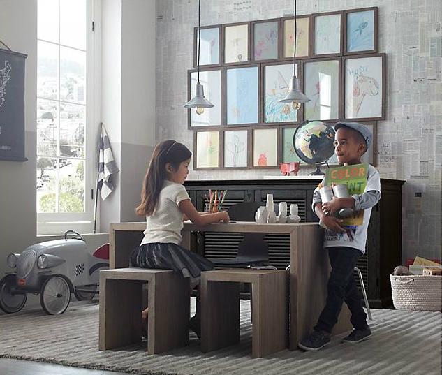 Vintage Industrial Yet Cute Kids' Playroom Ideas 14