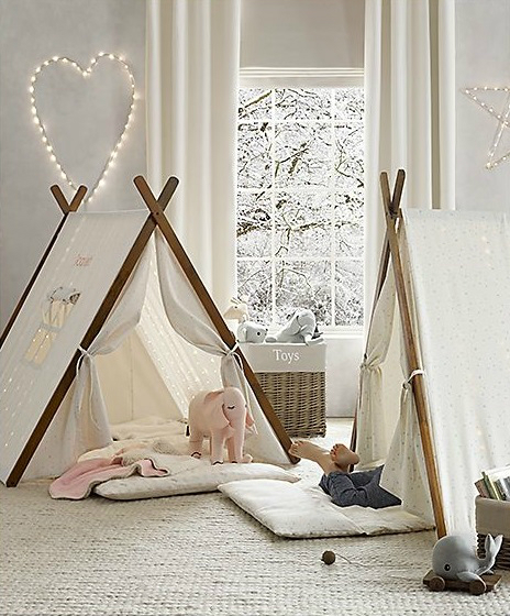 Vintage Industrial Yet Cute Kids' Playroom Ideas 21