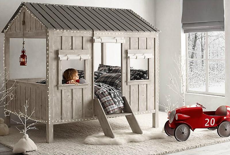 Vintage Industrial Yet Cute Kids' Playroom Ideas 38