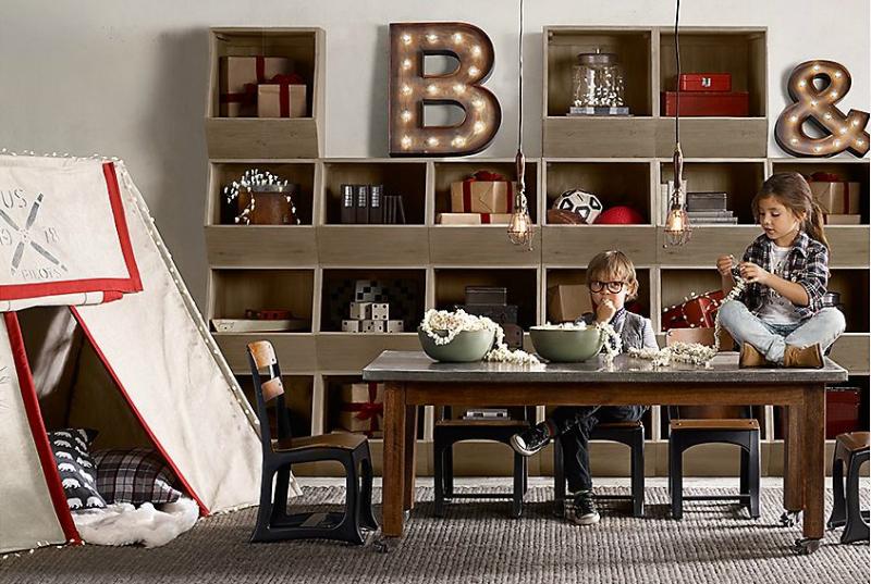 Vintage Industrial Yet Cute Kids' Playroom Ideas 4
