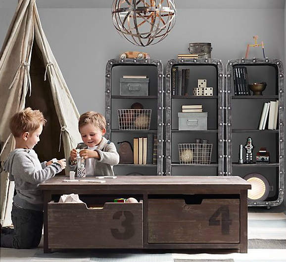 Vintage Kids Room: 38 Vintage Industrial Yet Cute Kids' Playroom Ideas