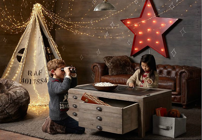 attic furniture ideas - 38 Vintage Industrial Yet Cute Kids Playroom Ideas