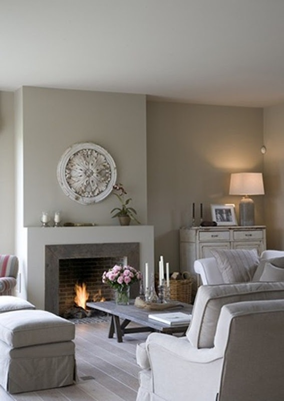 33 beige living room ideas decoholic Color ideas for living room with brick fireplace