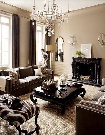33 beige living room ideas decoholic - Black brown and white living room ...