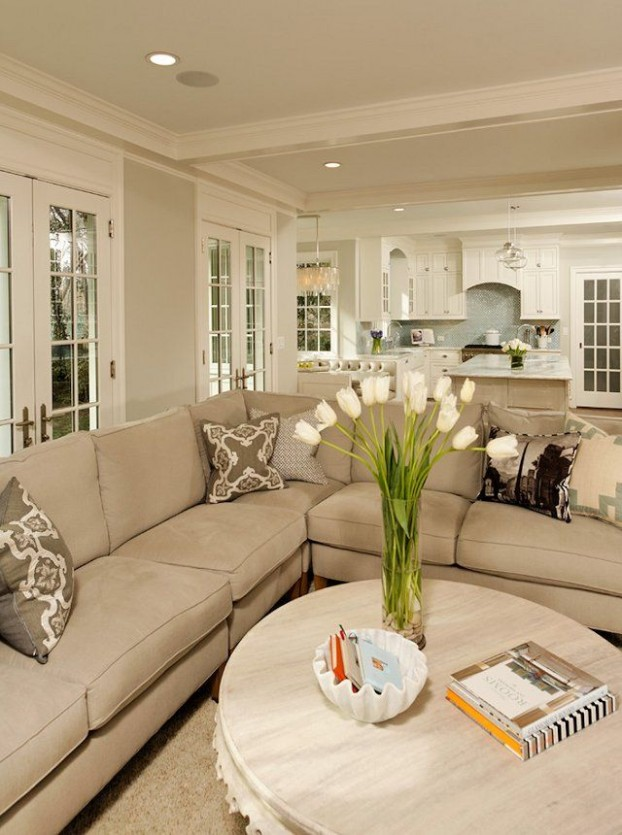 Beige Living Room Ideas 24