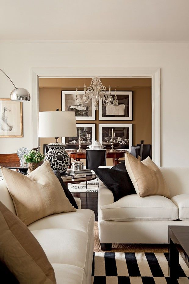 33 beige living room ideas decoholic for Gold and black living room ideas