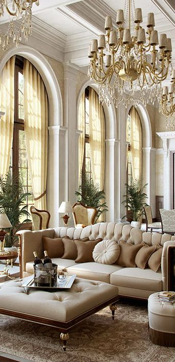 33 beige living room ideas decoholic for Luxury living room design