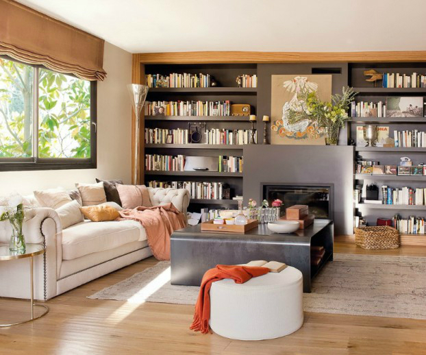 Beautiful Built In Bookshelves 12