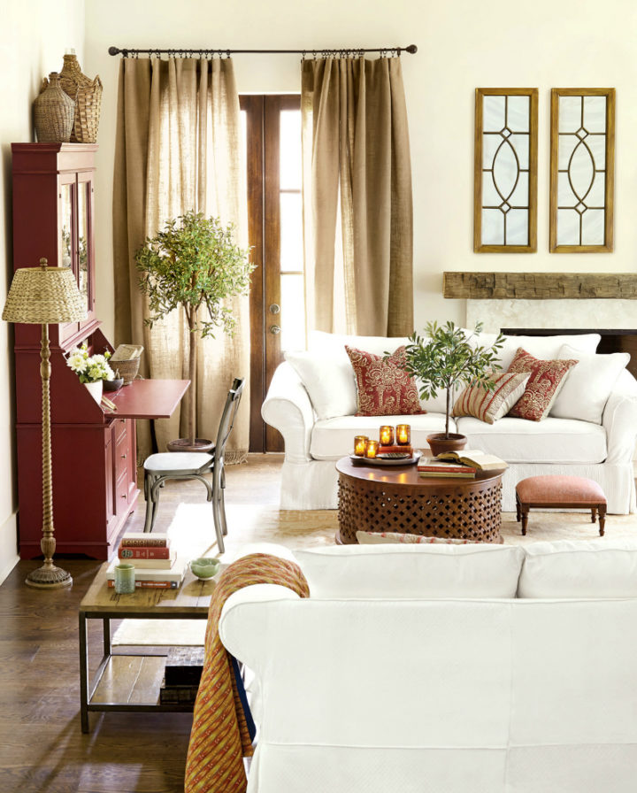 beige and brown charming living room