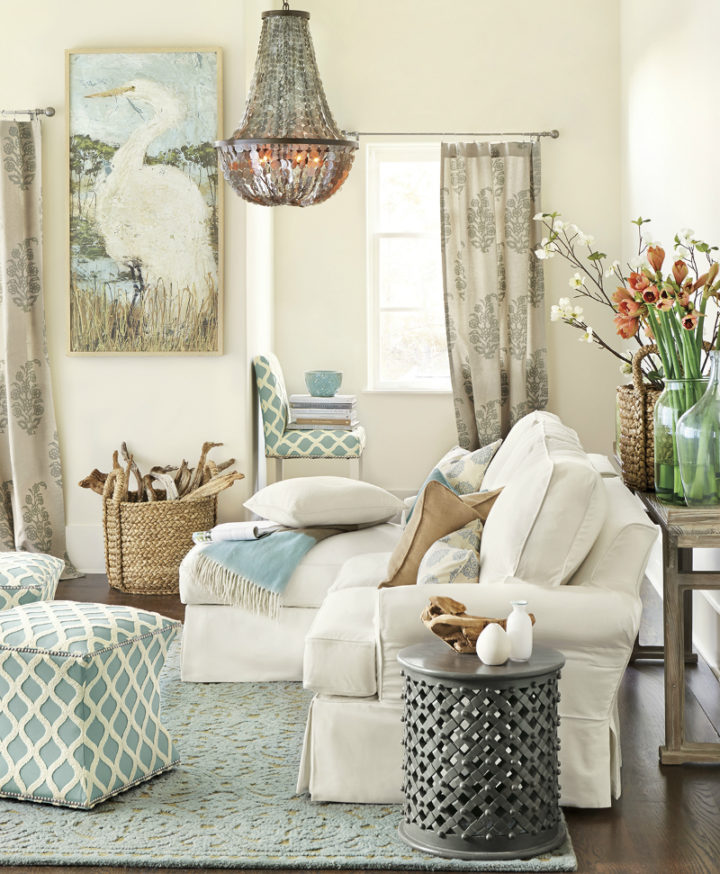 pastel colors in living room