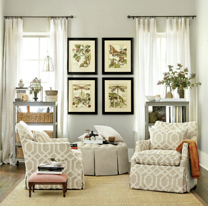 beige furniture with white details