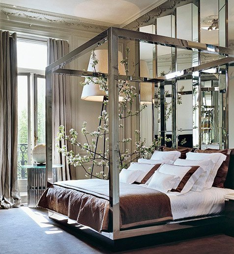 contemporary chic bedroom design