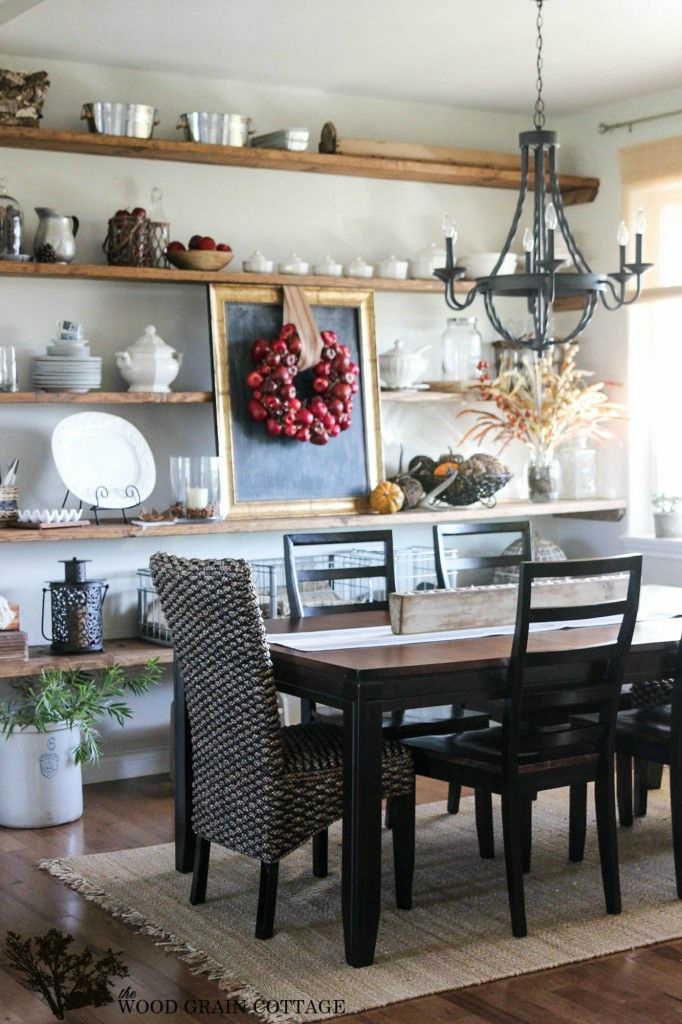 32 dining room storage ideas decoholic for Wall decor ideas for dining area