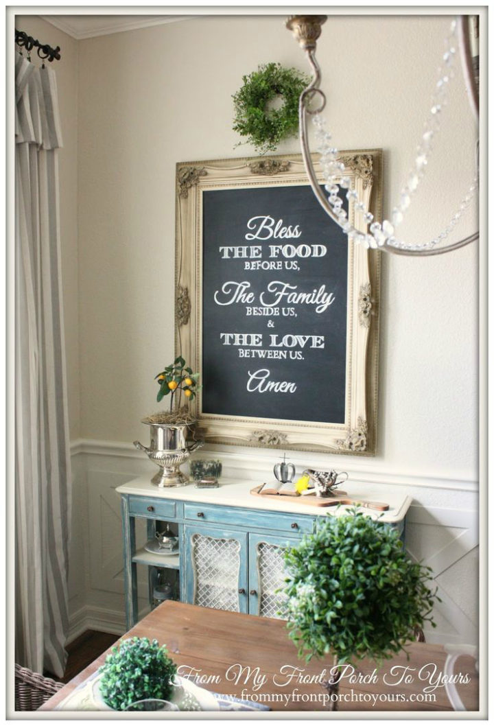 quote on a frame