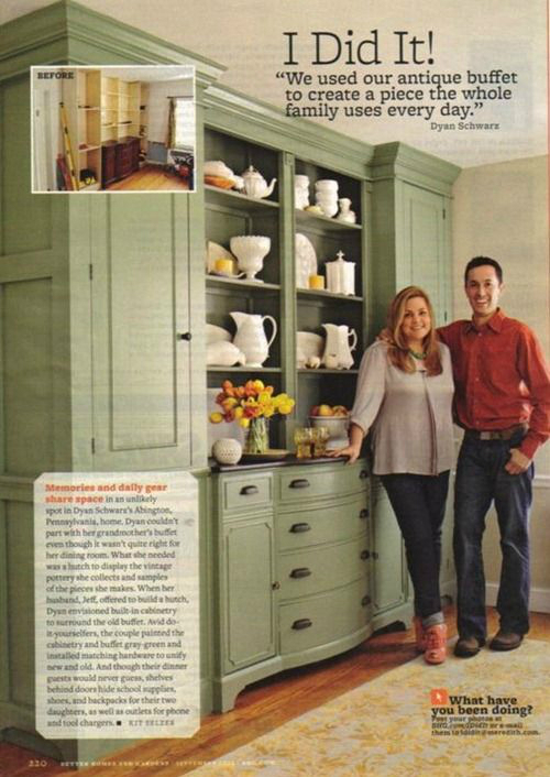 couple smiling near home furniture