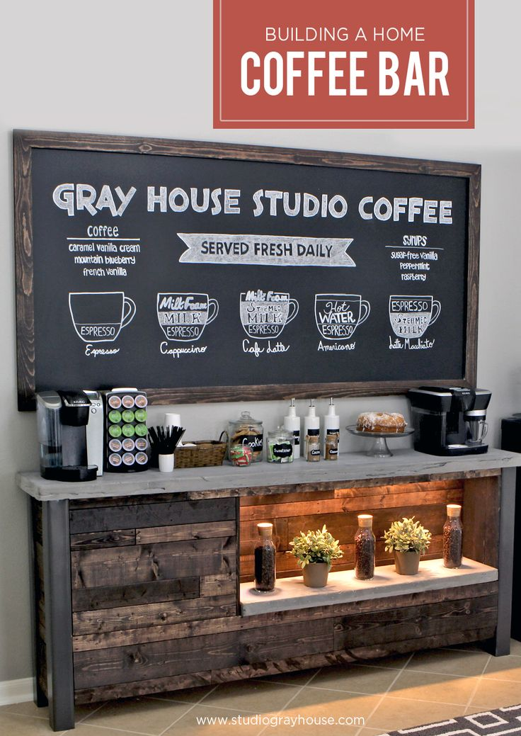 Great DIY Home Coffee Bar