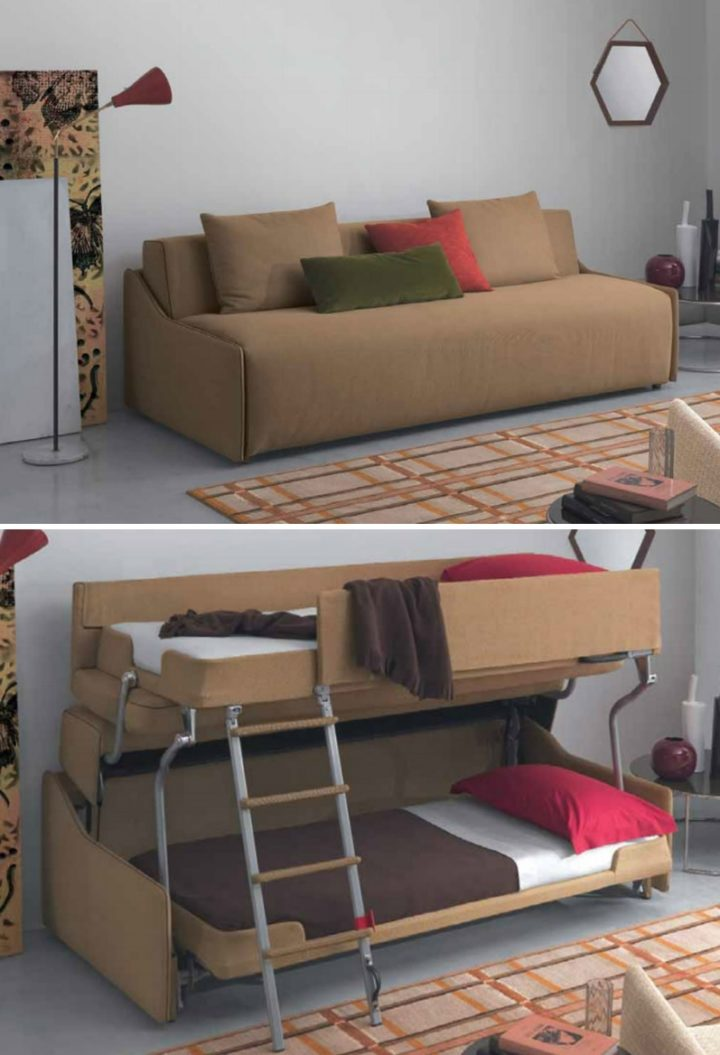 brown sofa bunk bed