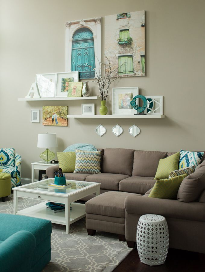 pops of color in family room ideas
