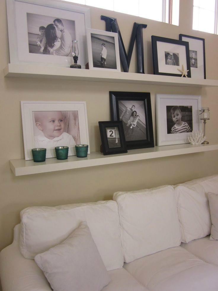 10 great ideas to help you add special touches to your family room decoholic Shelf decorating ideas living room