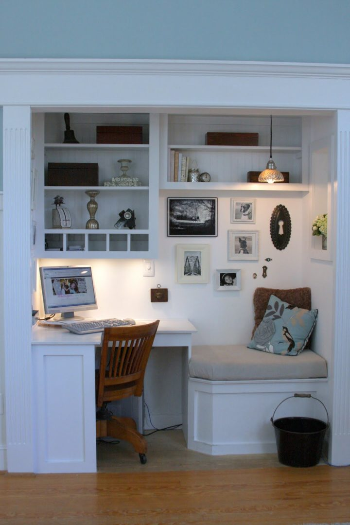 small home office corner