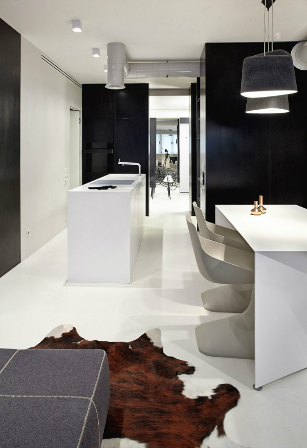 Functional Black And White Apartment 4