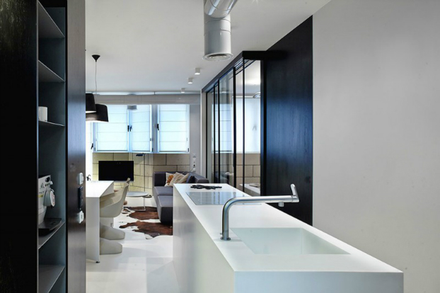 Functional Black And White Apartment 6