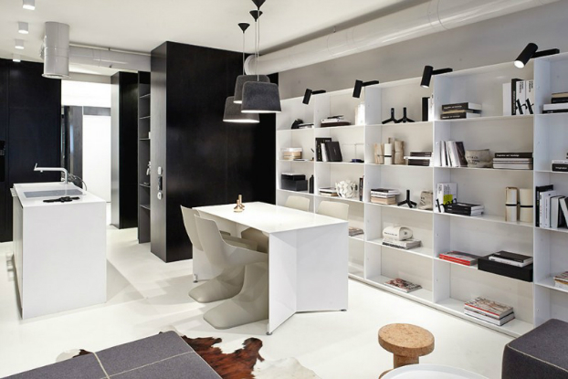 Functional Black And White Apartment