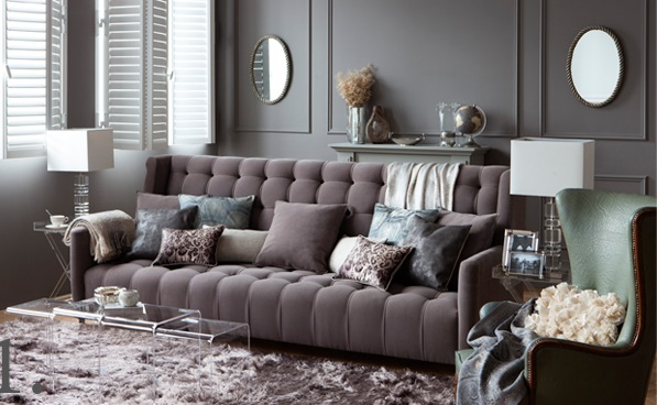 gray sophisticated living room