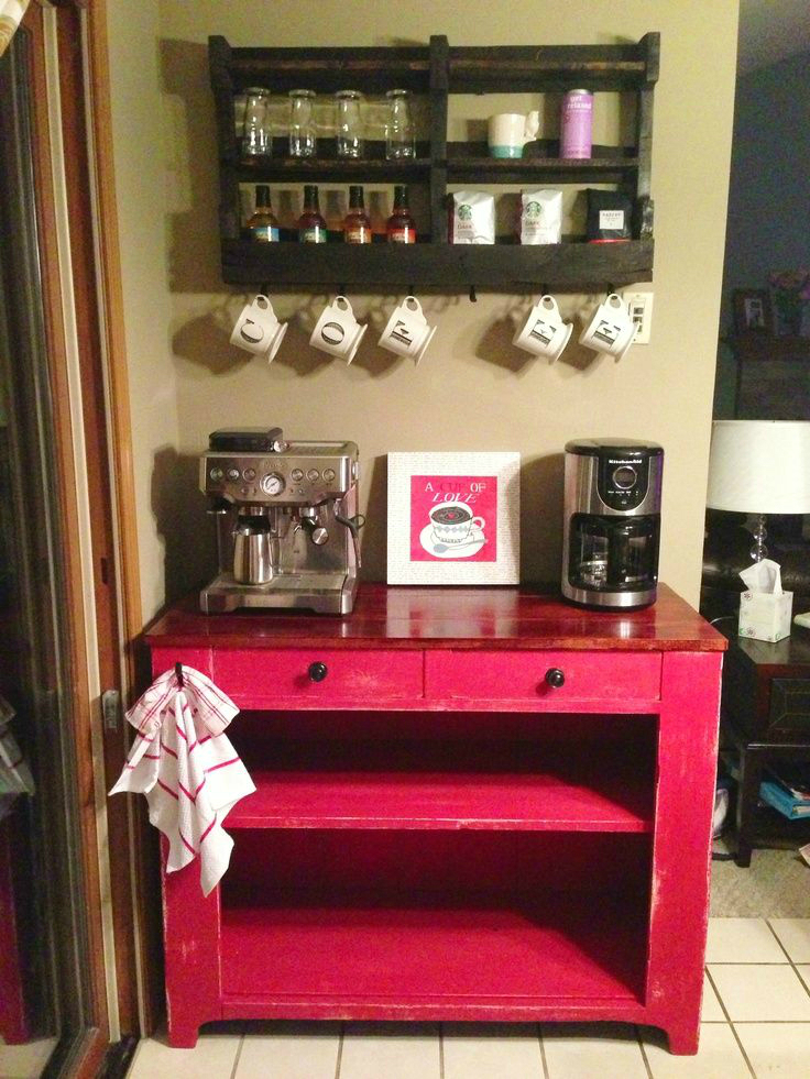 40 ideas to create the best coffee station decoholic for Coffee bar design ideas