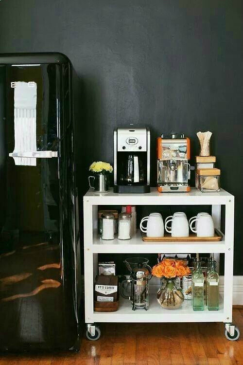 white coffee bar idea
