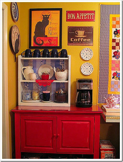 colorful home Coffee bar