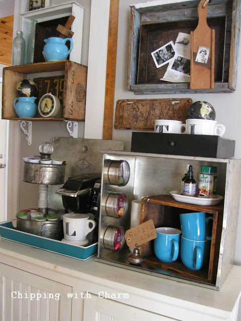 brown home coffee bar idea