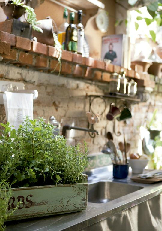 kitchen decorating ideas with herbs 16
