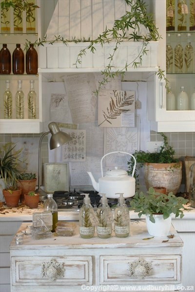 kitchen decorating ideas with herbs 34