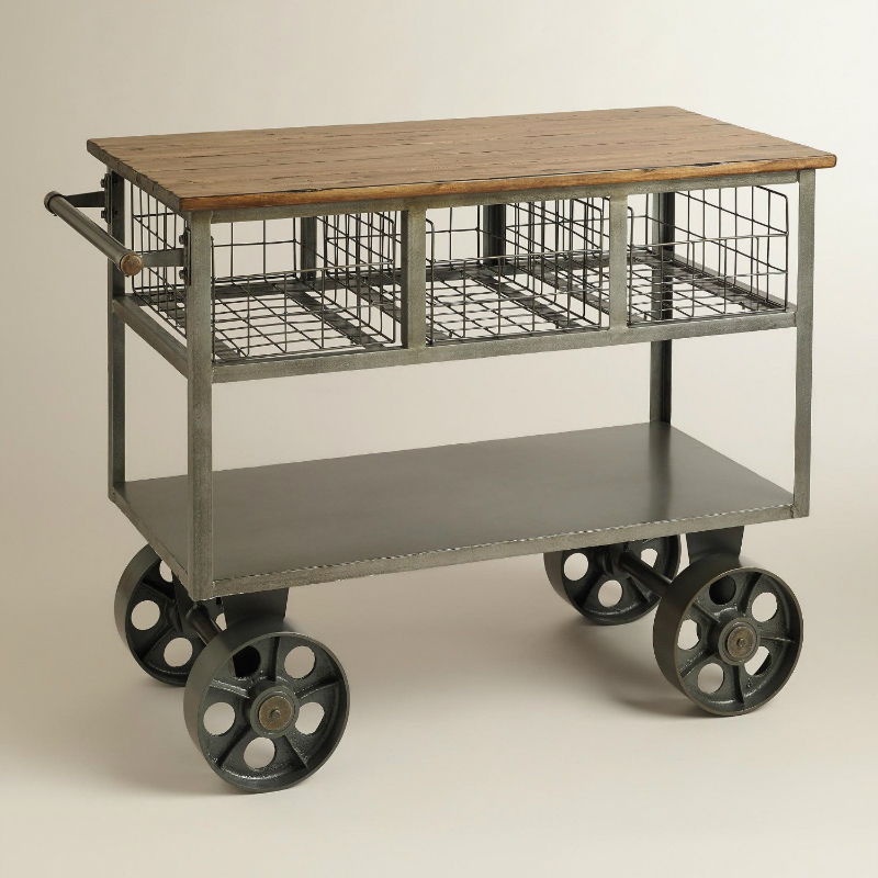 Industrial Rolling Kitchen Cart: 20 Best Kitchen Trolleys