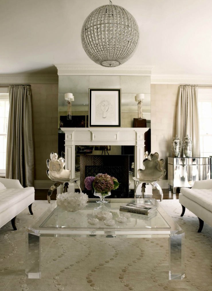... modern glamour living room 14 ...